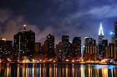 foto of new york night  - A night shot of New York City and it