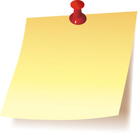 stock photo of thank you note  - Blank Yellow Note with he knob - JPG