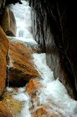 foto of avalanche  - Avalanche Falls in the Flume Gorge - JPG