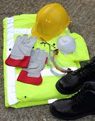 stock photo of ppe  - A collection of Personal protection equipment that is available - JPG