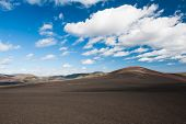 Panoramic landscape at Lakagigar, volcanic area with approx. 130 craters around the volcano Laki, so