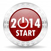 stock photo of new year 2014  - new years 2014 icon - JPG