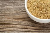 pic of flaxseeds  - golden flaxseed meal  - JPG