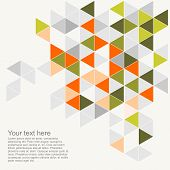 stock photo of geometric  - Pastel colorful vector background illustration with empty space for text - JPG