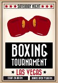 pic of knockout  - Retro sports poster to announce a boxing tournament - JPG