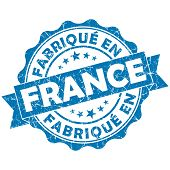 Made In France Blue Grunge Seal