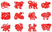 picture of chinese zodiac animals  - Chinese traditional paper - JPG