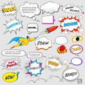 pic of lightning  - illustration of colorful comic speech bubble in vector - JPG
