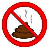 image of turds  - No sign on white background  - JPG