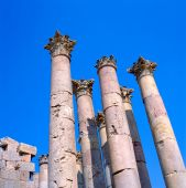 foto of artemis  - The Temple of Artemis is a Roman Temple in Jerash Jordan It was built around the middle of the 2nd century A.D. during the reign of Antoninus Pius.
