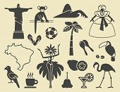 image of rainforest animal  - Traditional symbols of culture and the nature of Brazil - JPG