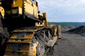 picture of dozer  - Industrial image of construction equipment - JPG
