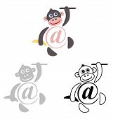 image of no spamming  - international sign email animals monkey - JPG