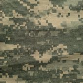 stock photo of nylons  - Universal camouflage pattern army combat uniform digital camo USA military ACU macro closeup detailed large rip - JPG
