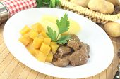 picture of rutabaga  - Venison goulash with turnip parsley and cooked potatoes - JPG