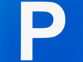 picture of traffic rules  - Blue Traffic Car Parking Sign Close Up - JPG