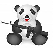 pic of m16  - Panda M16 on a white background - JPG