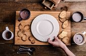 foto of cream puff  - Homemade hot chocolate homemade butter cookies cream puffs - JPG