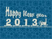 pic of happy new year 2013  - Small locomotive carrying figures 2013 and the words Happy New Year - JPG