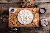 pic of cream puff  - Homemade hot chocolate homemade butter cookies cream puffs - JPG