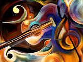 pic of perception  - Abstract painting on the subject of music and rhythm - JPG