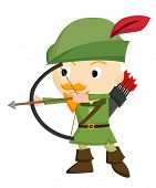 image of archer  - an archer readying a bow to fire - JPG