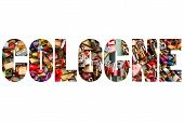 image of koln  - Word COLOGNE Thousands of love locks - JPG