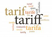 pic of nouns  - term of tariff in multi languages of word clouds - JPG