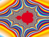 pic of mandelbrot  - Digital visualization of a colourful fractal called Mandelbrot set - JPG