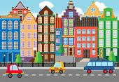 picture of building exterior  - Seamless Cartooned Cartooned City Life Portrait - JPG
