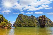 stock photo of james bond island  -  Bright spring sun - JPG