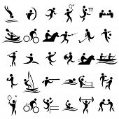 image of taekwondo  - A vector illustration of sport icons sets - JPG