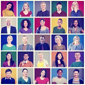 picture of human face  - Human Face Set of Faces Collection Diversity Concept - JPG