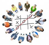 pic of tic  - Tic Tac Toe Game Competition XO Win Challecge Concept - JPG