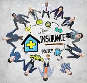 stock photo of insurance-policy  - Diversity Business People Insurance Policy Teamwork Support Concept - JPG