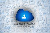 picture of graph  - Cloud Computing concept with infographics sketch set - JPG