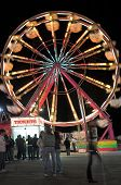 picture of ferris-wheel  - Ferris wheel at the county fair in a time exposure at night