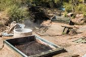 foto of maori  - Geothermal Ovens used by the maori people of New Zealand to cook food - JPG