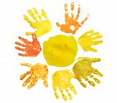 Sunshine Made Hand Prints