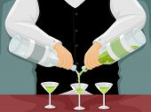 pic of bartender  - Illustration of a Male Bartender Mixing Drinks - JPG