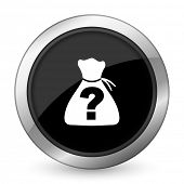 stock photo of riddles  - riddle black icon   - JPG
