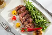 picture of rocket salad  - Roast Beef with Vegetables and Rocket Salad - JPG