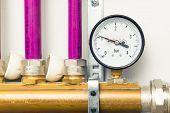 picture of boiler  - pressure gauge indicator in boiler - JPG