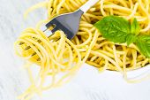 pic of spaghetti  - Simply coocked spaghetty in a white bowl - JPG