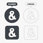 stock photo of ampersand  - Ampersand sign icon - JPG