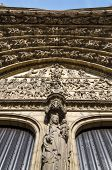pic of sinner  - Relief of Last judgment on the main portal on the cathedral of Our Lady in Antwerp Belgium  - JPG