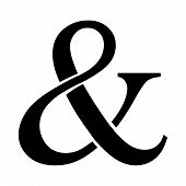 image of ampersand  - A vector icon of an ampersand symbol - JPG