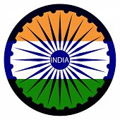 pic of indian independence day  - Indian Independence Day background with  wheel flag democracy - JPG