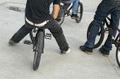 image of x-rated  - close up of male legs on bmx - JPG