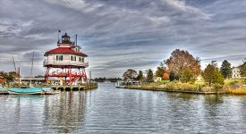 picture of maryland  - The Drum point Lighthouse on the Chesapeake Bay in Maryland - JPG